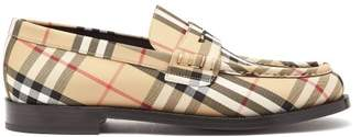 Burberry House Check Leather Loafers - Mens - Multi