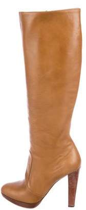 Brian Atwood Leather Knee-High Boots