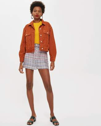 Topshop PETITE Sorbet A-Line Skirt