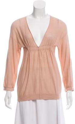 Chloé Cashmere Knit Top Pink Chloé Cashmere Knit Top