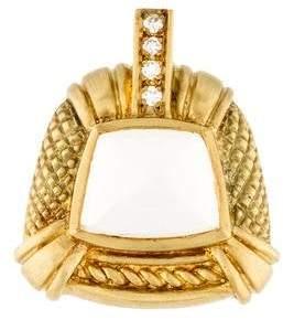 Judith Ripka 18K Quartz & Diamond Pendant