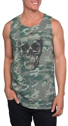 Pop Culture Men's Burnt Camouflage Burnout Graphic Tank Top