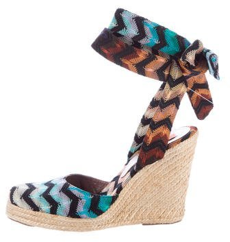 Missoni Chevron Espadrille Wedges