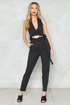 Nasty Gal Gotta Date With Destiny Crop Top and Pants Set