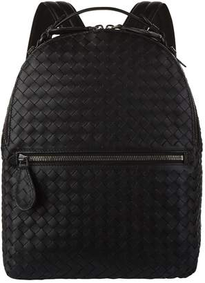 Bottega Veneta Leather Intrecciato Weave Backpack