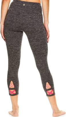 Gaiam Women's Aster Yoga Strappy Midrise Capri Leggings