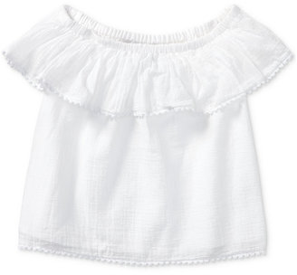 Ralph Lauren Off-The-Shoulder Cotton Top, Toddler & Little Girls (2T-6X) $39.50 thestylecure.com