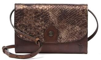 Frye Melissa Snake Embossed Leather Crossbody Clutch