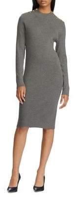 Lauren Ralph Lauren Knee-Length Cotton-Blend Sweater Dress