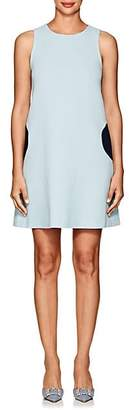 Lisa Perry Women's Wool Crepe A-Line Dress - Lt. Blue