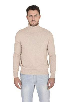 Cashmeren Men's Wool Cashmere Classic Knit Soft Long Sleeve Turtleneck Pullover Sweater