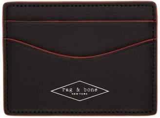 Rag & Bone Black Hampshire Card Holder