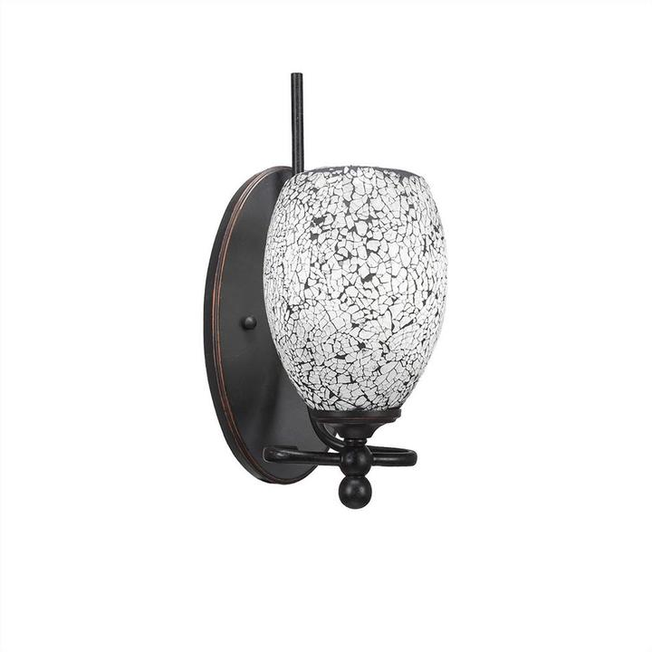 Cambridge SilversmithsCambridge 1-Light Dark Granite Sconce with Black Marbleized Glass
