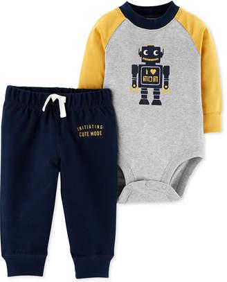 Carter's Baby Boys 2-Pc. Cotton Robot Bodysuit & Pants Set