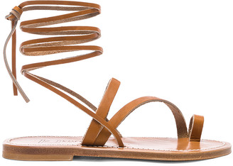 K. Jacques Ellada Ankle Wrap Sandal in Pul Natural | FWRD
