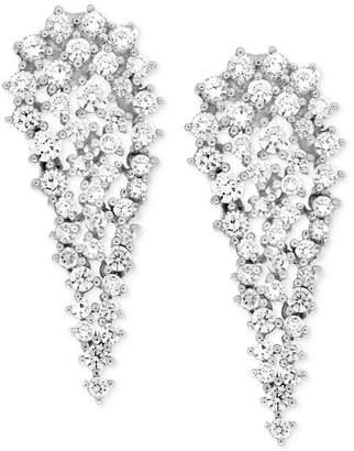 Wrapped In Love Diamond Cluster Drop Earrings (2 ct. t.w.) in 14k White Gold