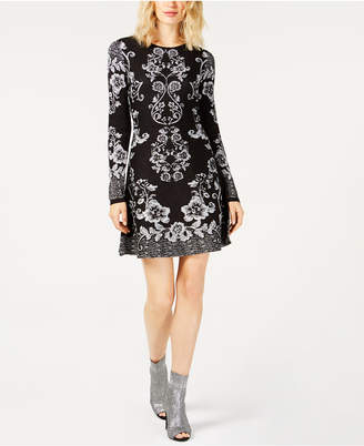 INC International Concepts I.N.C. Printed Sweater Dress, Created for Macy's
