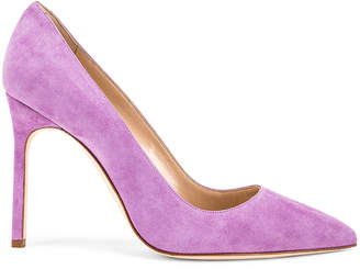 Manolo Blahnik BB 105 Pump in Lilac Purple Suede | FWRD