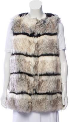 Calypso Faux Fur Striped Vest