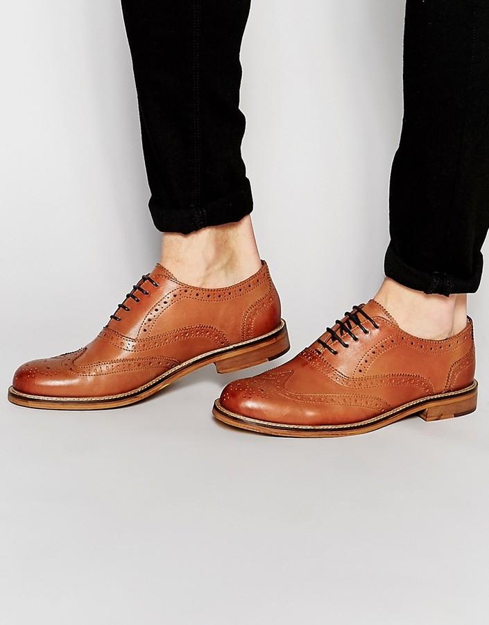 Ben ShermanBen Sherman Deon Brogues In Tan Leather