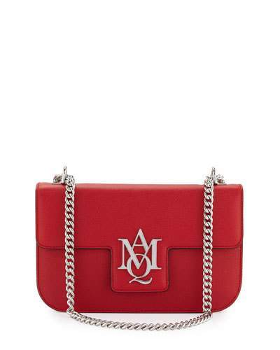 Alexander McQueen Alexander McQueen Insignia Small Chain Satchel Bag, China Red