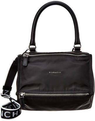 Givenchy Small 4G Pandora Nylon & Leather Shoulder Bag
