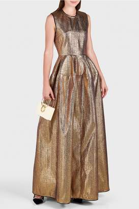 Maison Rabih Kayrouz Metallic Cut-Out Gown