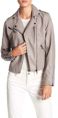 Moto Wishlist Asymmetrical Zip Faux Leather Jacket