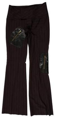 Alvin Valley Wool-Blend Leather-Accented Pants
