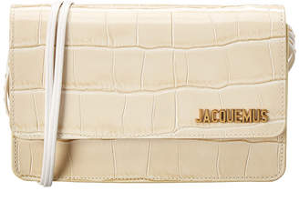 Jacquemus Le Sac Riviera Croc-Embossed Leather Shoulder Bag