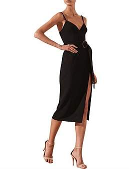 Shona Joy Andrea Fitted Cocktail Dress W. Belt