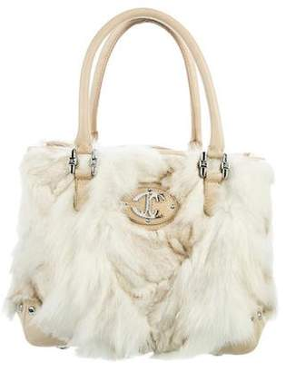 Just Cavalli Faux Fur Satchel