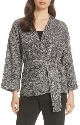 Eileen Fisher Cotton Tweed Kimono Jacket (Regular & Petite)