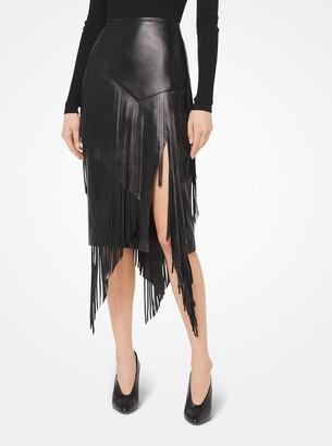 Michael Kors Plonge Fringed Skirt