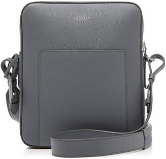 Smythson Panama Leather Messenger Bag