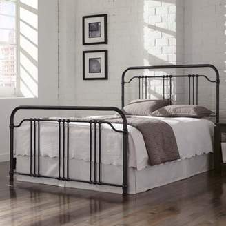 Leggett & Platt Wellesly Complete Bed with Metal Spindled Grills, Marbled Navy Finish, Multiple sizes available
