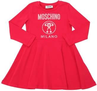 Moschino Logo Printed Cotton Interlock Dress