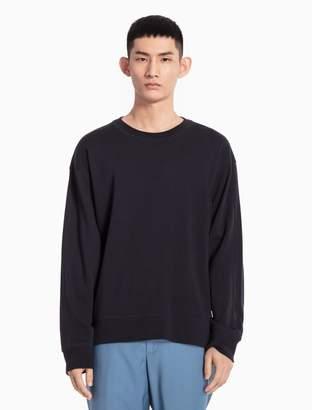 Calvin Klein cotton knit drop shoulder sweatshirt