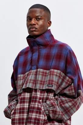 AJOBYAJO Plaid Tri-Stripe Anorak Jacket