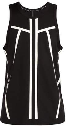 BLACKBARRETT by NEIL BARRETT Line Print Cotton Jersey Tank Top - Mens - Black White