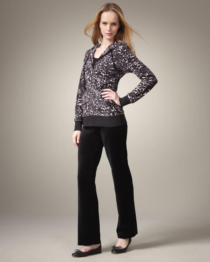 Neiman Marcus Animal-Print Jogging Suit