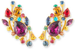 Jose & Maria Barrera Large Multicolor Stone Clip-On Ear Climbers