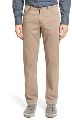 Brax Flat Front Stretch Cotton Straight Leg Trousers