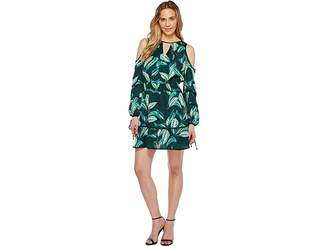 Adelyn Rae Havana Woven Printed Shirtdress Women's Dress