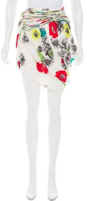 Doo.Ri Floral Print Asymmetrical Skirt
