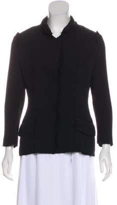 Saint Laurent Frayed Collared Jacket