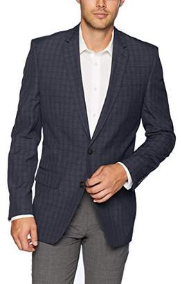 Haggar Men's Tonal Check Fancy Tailored Fit 2-Button Side Vent Sport Coat