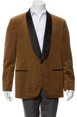 Brunello Cucinelli Silk-Blend Shawl Collar Tuxedo Jacket brown Silk-Blend Shawl Collar Tuxedo Jacket