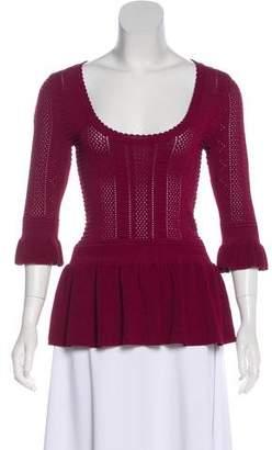 Torn By Ronny Kobo Scoop Neck Sweater