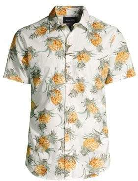 Bonobos Pineapple-Print Short-Sleeve Button-Down Shirt